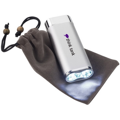 Image of Promotional Power Bank with LED Torch Mammoth 5200 Power Bank