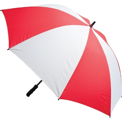 Image of Promotional Fibreglass Storm Umbrella - Red and White