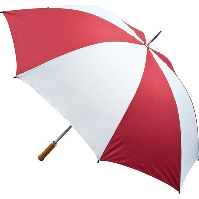 Image of Promotional Quantum Golf Umbrella Fiberglass Rib- Burgundy and White