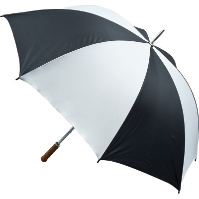 Image of Custom Branded Quantum Golf Umbrella Fibreglass Rib - Black and White
