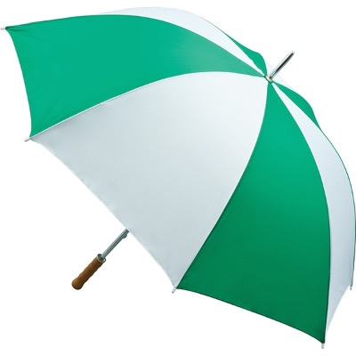 Image of Promotional Quantum Golf Umbrella - Emerald and White