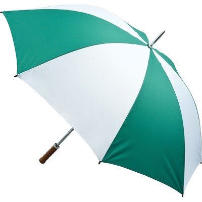 Image of Branded Quantum Golf Umbrella - Green and White
