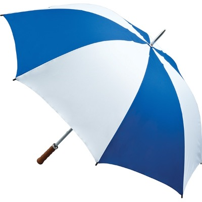Image of Promotional Quantum Golf Umbrella - Royal Blue and White