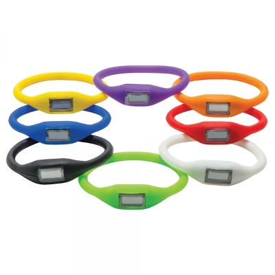 Image of Printed Silicone LED Watch Wristband. Pantone Available