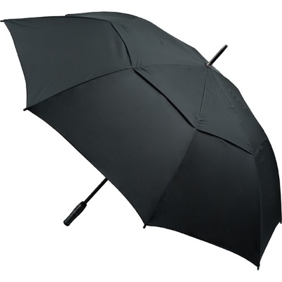 Image of Promotional Automatic Opening Vented Golf Umbrella - Black