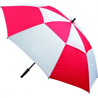 Image of Printed Vented Golf Umbrella - Red and White