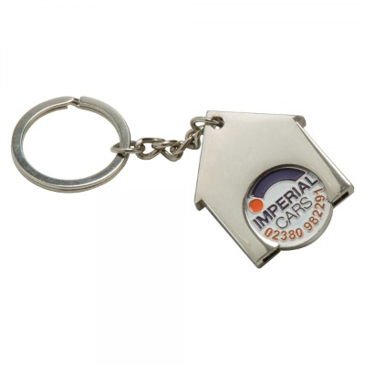 Image of Full Colour Printed House Keyring. New 2017 31 Trolley Coins Now Available