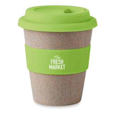 Image of Promotional Bamboo Americano With Silicone Lid and Grip 350 ml