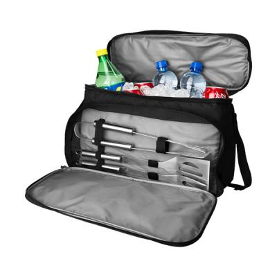 Image of Branded BBQ Set. Printed Dox 3-piece BBQ set with cooler bag