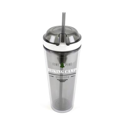 Image of Promotional Travel Cup With Snack Compartment And Straw.Quick Delivery