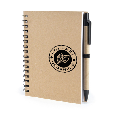 Image of Express Printed Eco A6 Verno Pocket Notebook with Recycled Pen