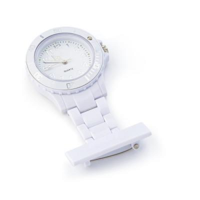 Image of Printed ABS nurse watch with silver and white coloured digits.
