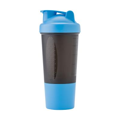 Image of Printed Plastic 500ml protein sports shaker. Branded Sports Shaker.