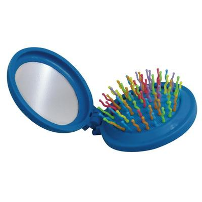 Image of Promotional Compact Hairbrush And Mirror Round