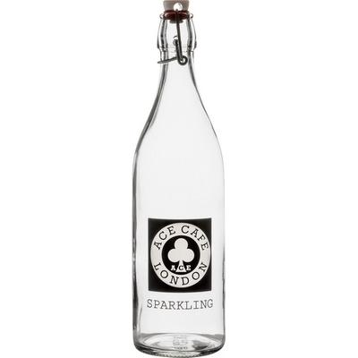 Image of Promotional Glass Bottle 1 Litre With Swing Top Cap
