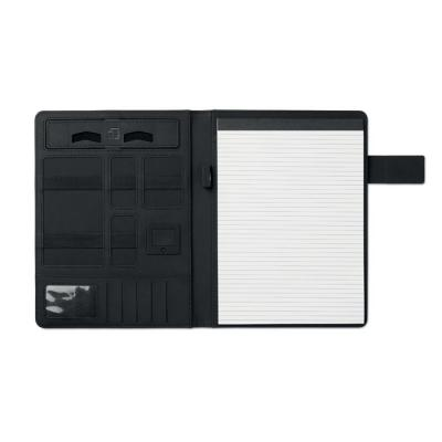 Image of Promotional A4 portfolio With Integrated Power Bank 4000 mAh