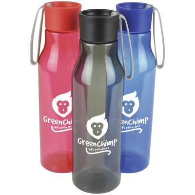 Image of Printed Bespoke Thistle Drinks Bottle. Plastic Reusable Branded Bottle. Quick Turnaround