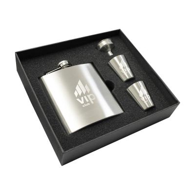 Image of Troyes Hip Flask Set