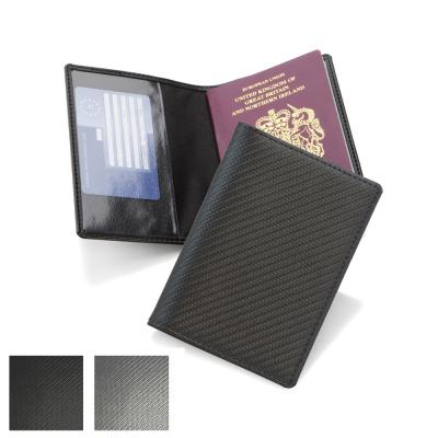 Image of Carbon Fibre Textured Basic Passport Wallet