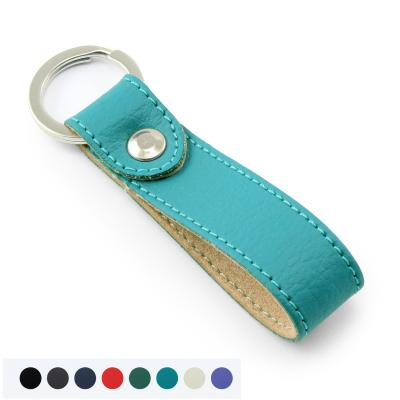 Image of Recycled E Leather Rectangular Key Fob