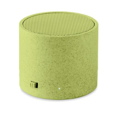 Image of Promotional Eco Bluetooth Round Speaker Made From Wheat Straw