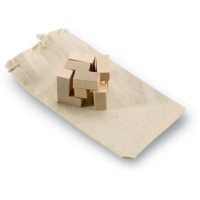Image of Promotional Eco Wooden Puzzle In Cotton Pouch