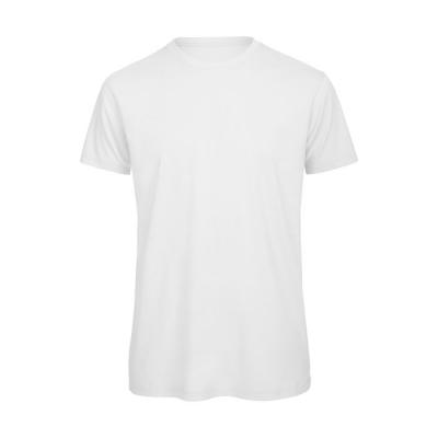 Image of Promotional Men's White Organic Cotton T Shirt With Rib Collar