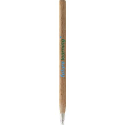 Image of Promotional Eco Pen Made From Natural Beech Wood