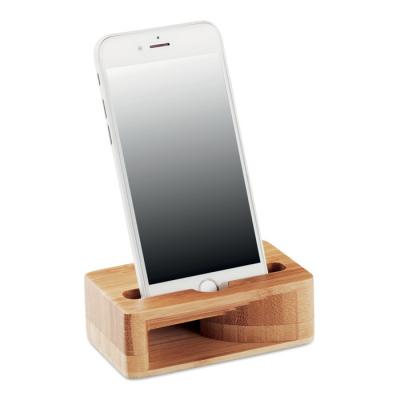 Image of Promotional Eco Bamboo Mobile Phone Stand With Amplifier
