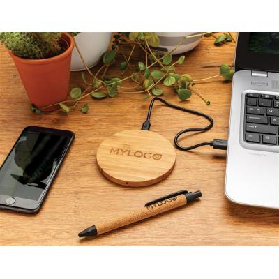 Image of Promotional Bamboo Wireless Desk Charger
