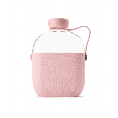 Image of Promotional Hip Flask Water Bottle Blush Pink