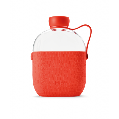 Image of Branded Hip Flask Water Bottle Coral