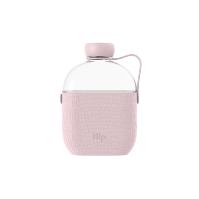 Image of Branded Hip Flask Water Bottle Dusty Pink