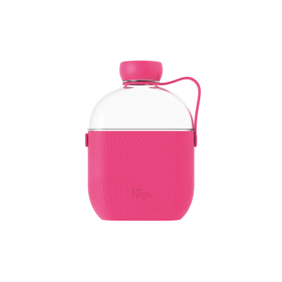Image of Promotional Hip Flask Water Bottle Hot Pink
