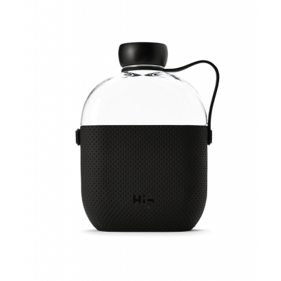 Image of Promotional Hip Flask Water Bottle Midnight Black