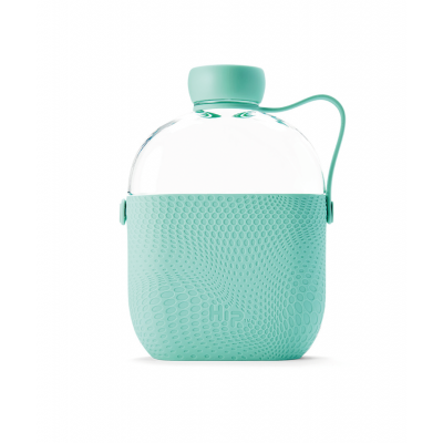Image of Promotional Hip Flask Water Bottle Mint Green
