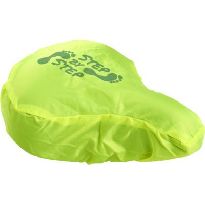 Image of Promotional Waterproof Bike Seat Cover In Fluorescent Lime Green