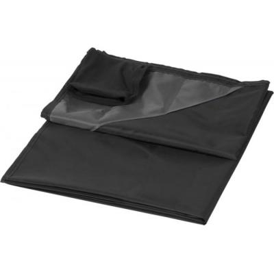 Image of Promotional Picnic Blanket With Pouch Black