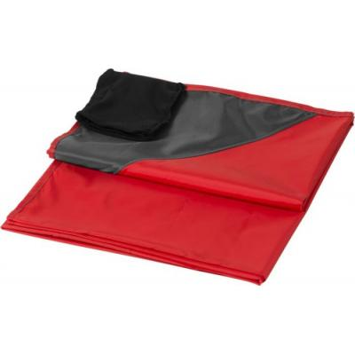 Image of Branded Picnic Blanket With Pouch Red