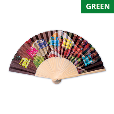 Image of Promotional Eco Bamboo Hand Held Fan With Fully Bespoke Design