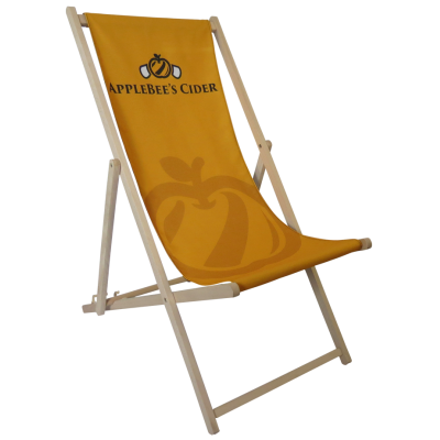 Image of Promotional Traditional Deck Chair With Full Colour Branding Made In The UK