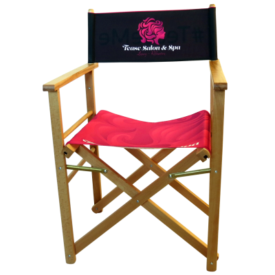 Image of Promotional Outdoor Directors Chair With Large Branding Area Made In The UK