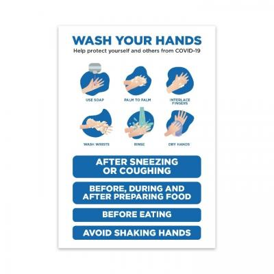 Image of Printed Wash Your Hands Protection Sign