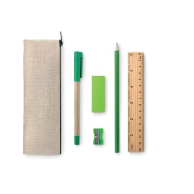 Image of Promotional Eco Friendly Six Piece Pencil Case Stationary Set
