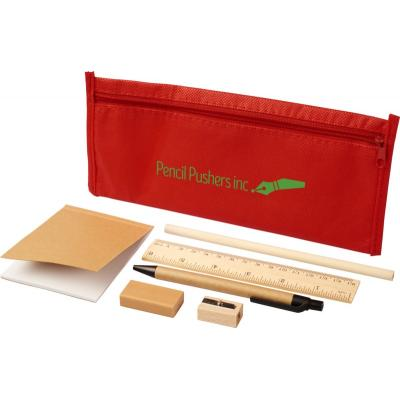 Image of Promotional Eco Stationary Set With Coloured Pencil Case