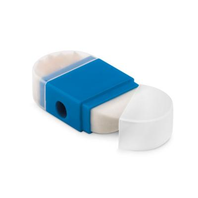 Image of Promotional 2 In 1 Rubber Eraser And Sharpener Blue