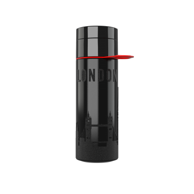 Image of Promotional Eco Join The Pipe City Water Bottle LONDON Black