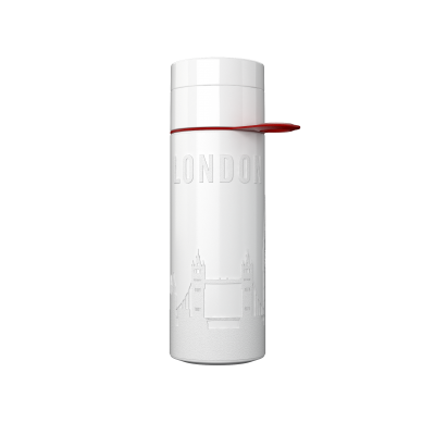 Image of Printed Eco Join The Pipe City Water Bottle LONDON White