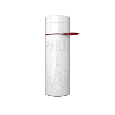 Image of Promotional Eco Join The Pipe City Water Bottle PARIS White