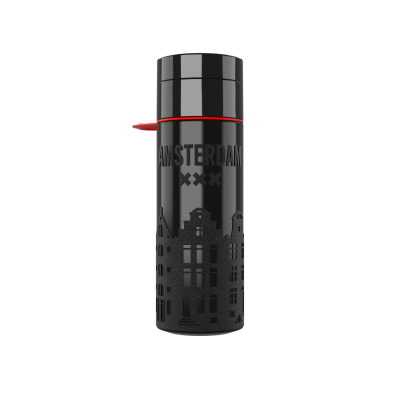 Image of Promotional Eco Join The Pipe City Water Bottle Amsterdam Black